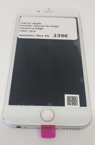 iPhone 6S 64GB Plata Móvil Libre 4G