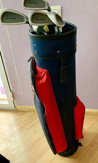 Juego palos golf hombre + bolsa