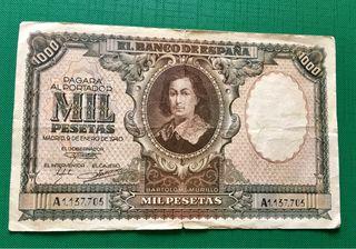 Billete 1000 Pesetas 1940 BC+ BARTOLOME MURILLO