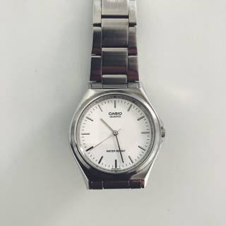 Reloj Casio MTP 1130 Metal Cara Blanca Barras