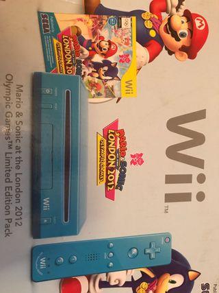 Consola Wii azul + juego
