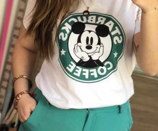 Camiseta Starbucks Mickey