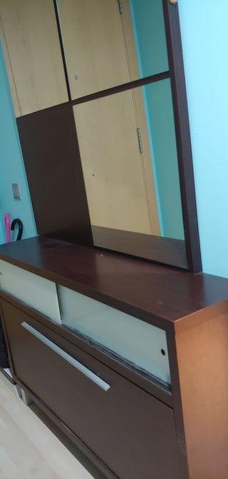 zapatero 10 pares con espejo