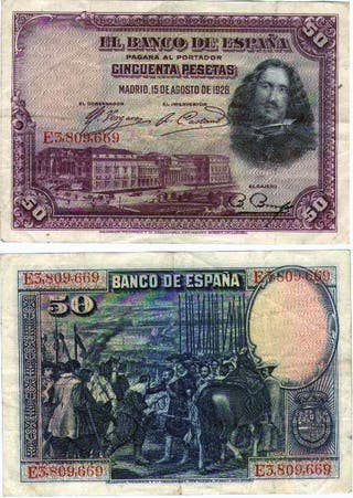 billete de 50 pesetas 1928