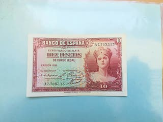 billete 10 pesetas 1935