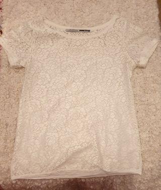 Camiseta blanca calada Nueva