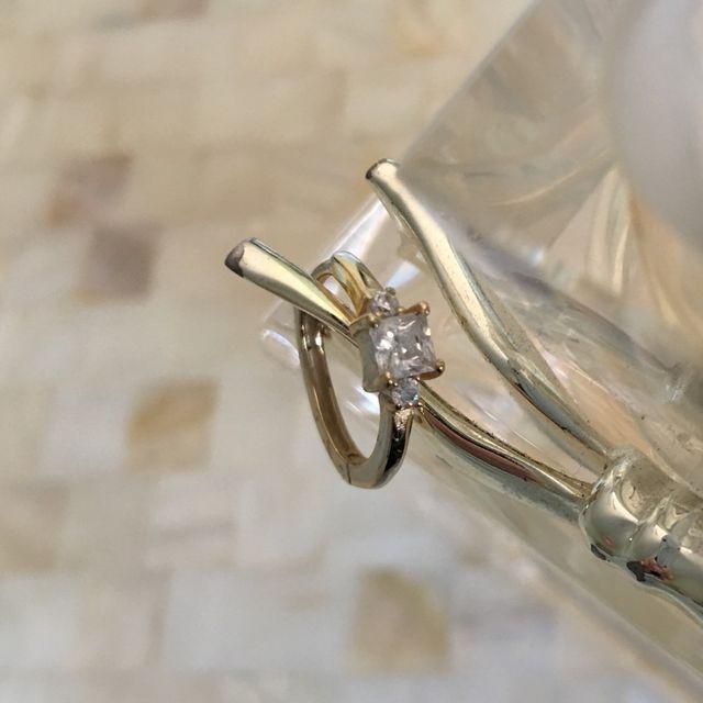 Pendientes aros circonita plata chapados en oro
