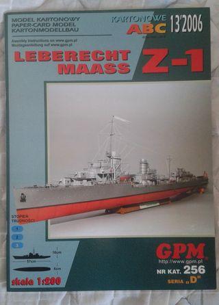 Maqueta de cartón LEBERECHT MAASS Z-1 1:200, GPM