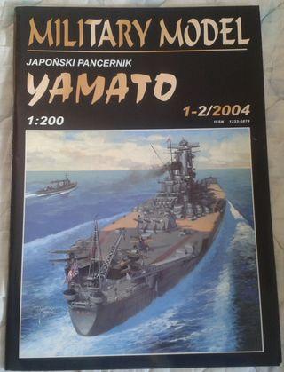 Maqueta de cartón YAMATO, 1:200, ACORAZADO JAPONÉS