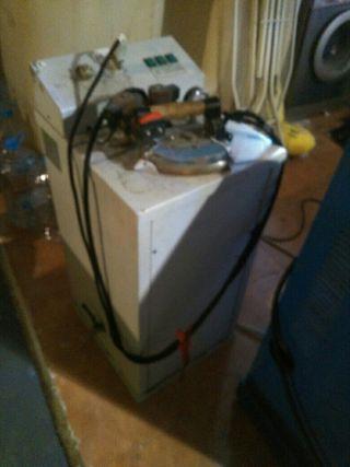 Plancha industrial, mesa, generador de vapor