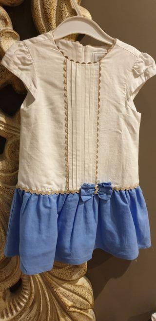 vestido lino Mayoral talla 5