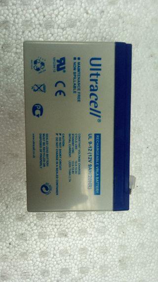 Bateria gel vrla 12v 9ah misma medida 7ah