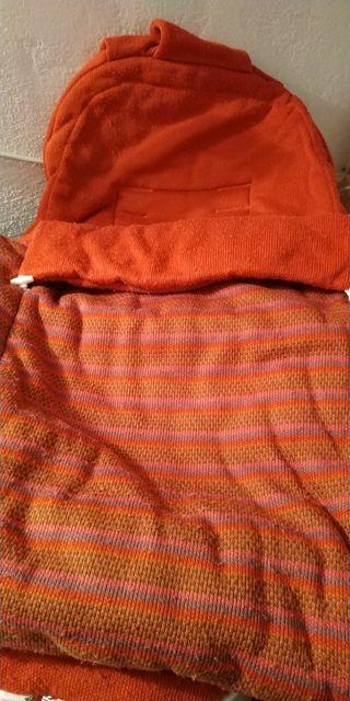 saco invierno color teja