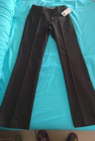 pantalón de vestir mujer marron