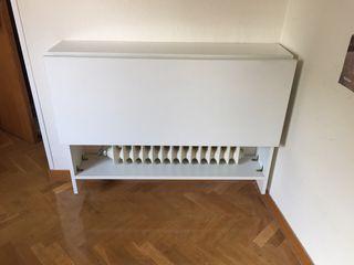 Mesa escritorio sobre radiador abatible