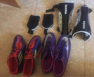 Botas de futbol y complementos.