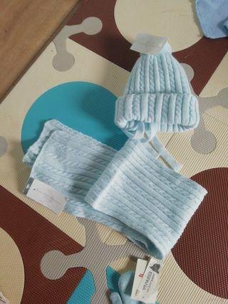gorrito y bufanda bebé