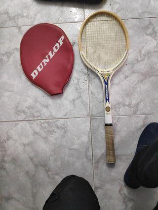 raqueta madera vintage añon 60,70,80 marca dunlop