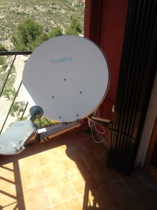 Tooway satellite internet dish and receiver