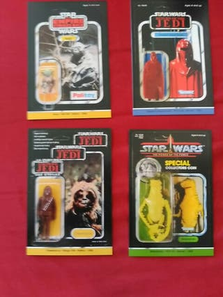 STAR WARS Cartas Figuras Vintage