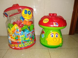 juguete bebé seta molto y cubos de construcción