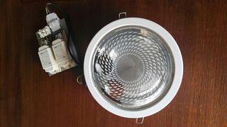 Lámpara downlight 26w en blanco