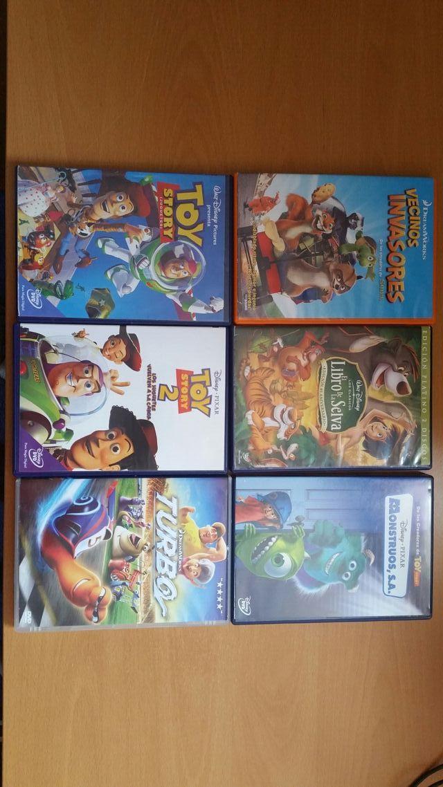 Lote 6 películas infantiles DVD