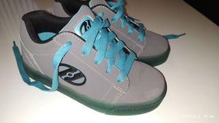 Zapatillas con ruedas heelys (patines)