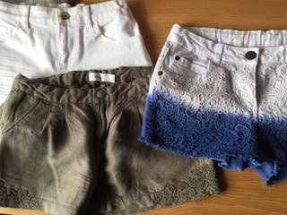 Lote 3 pantalones Short de Vestir niña Talla 12 a