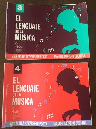 Libros El Lenguaje de la Música 3 y 4. Navarrete.