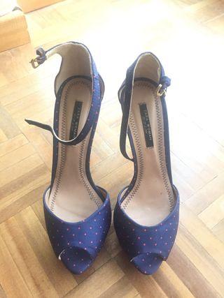 Zapatos tacón peep toe-38- negociable