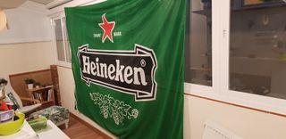 Bandera gigante cerveza HEINEKEN