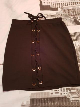 falda negra corta talla unica