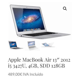 Apple MacBook Air 13 2012 i5 3427U, 4GB, SDD