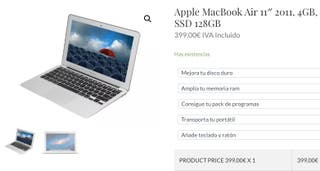 Apple MacBook Air 11 2011, 4GB, SSD 128GB