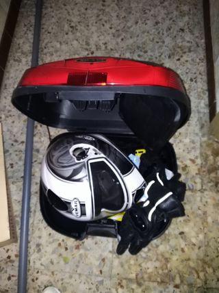 Maleta+chaqueta+guantes+casco+funda MOTO