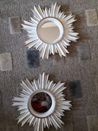 juego de dos espejos forma sol