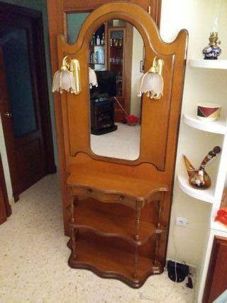 Mueble recibidor - entradita con espejo