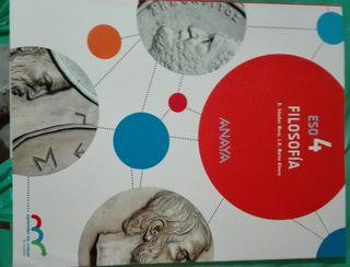 Libro Filosofía 4°ESO. Anaya