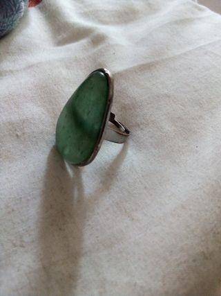 anillo piedra onix verde