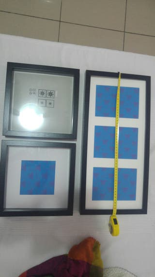 Marcos Ikea serie Ribba negro