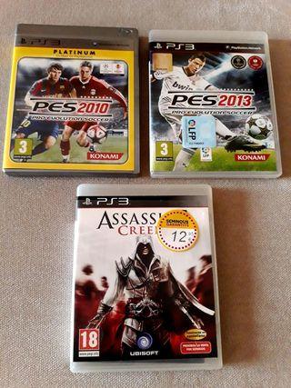 PlayStation 3 Lote 3 juegos PS3