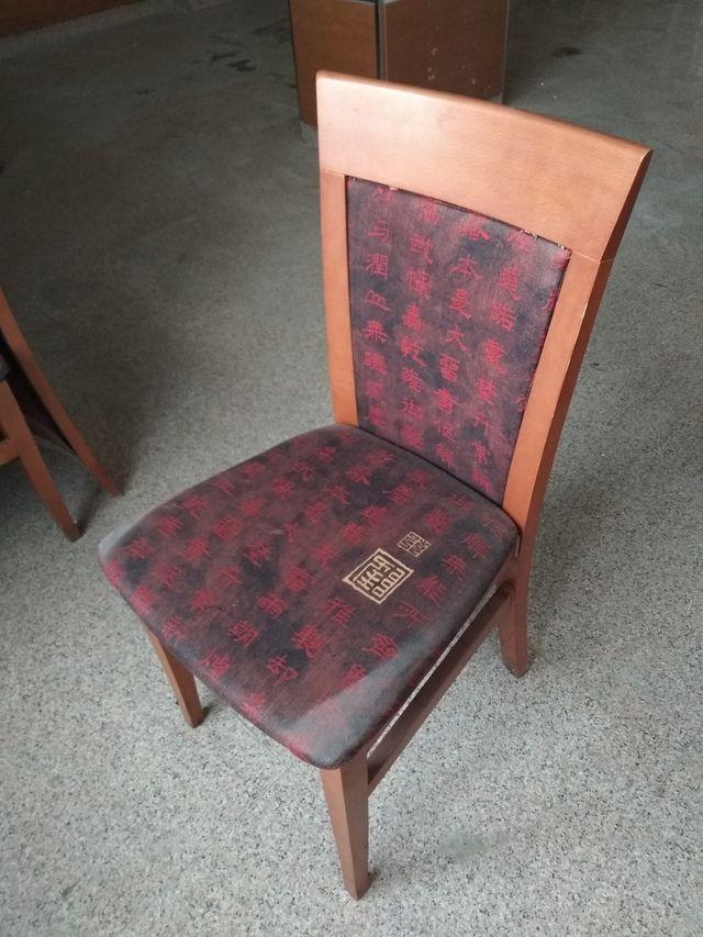 sillas restaurante segunda mano