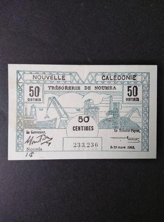 Nueva Caledonia 50 cents.