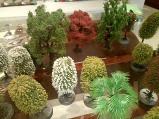 arboles maqueta , decoracion scalextric