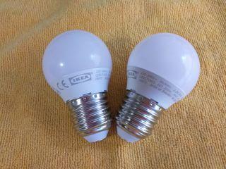 Dos bombillas Leds