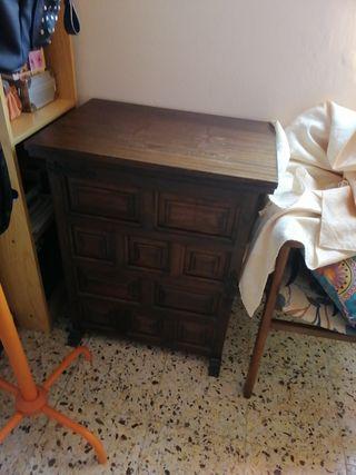 mueble para máquina de coser con pedal