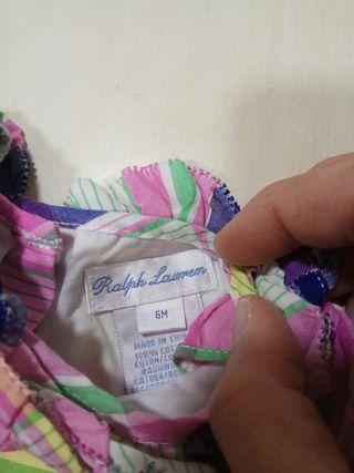 Vestido Ralph Lauren 6 meses