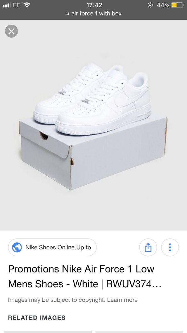 Air Force one white Nike