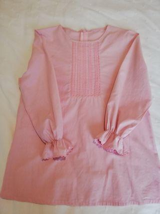 Blusa rosa comunión talla 14